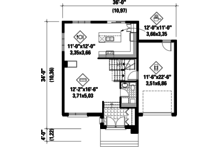 Contemporary Floor Plan - Main Floor Plan Plan #25-4266