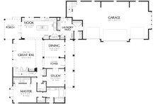Craftsman Floor Plan - Main Floor Plan Plan #48-148