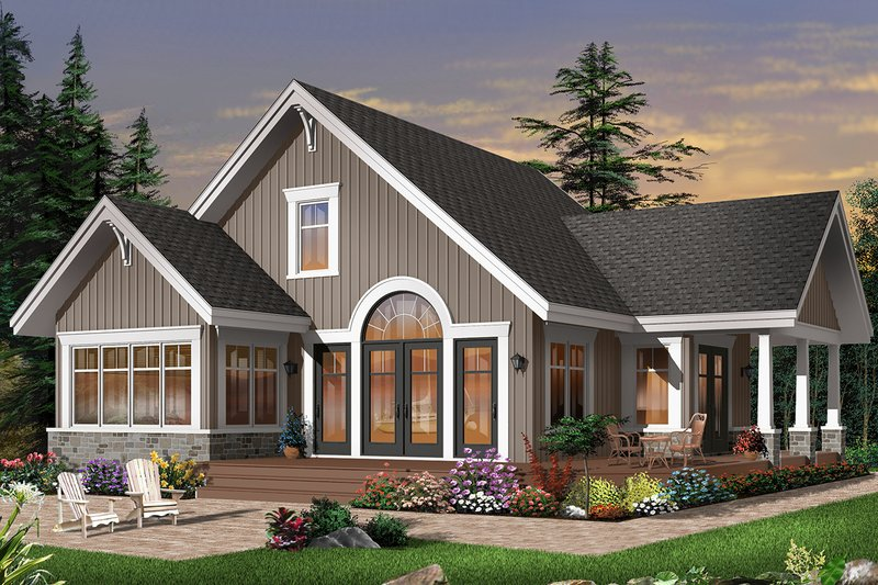 Cottage Style House Plan - 3 Beds 2 Baths 1680 Sq/Ft Plan #23-2266 Exterior - Front Elevation