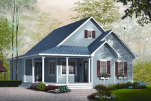 Country Exterior - Front Elevation Plan #23-778