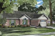 Traditional Style House Plan - 3 Beds 2 Baths 1203 Sq/Ft Plan #17-2086 Exterior - Front Elevation