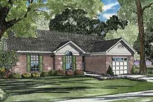 Traditional Exterior - Front Elevation Plan #17-2086