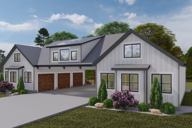Dream House Plan - Farmhouse Exterior - Front Elevation Plan #1060-116