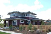 Prairie Style House Plan - 4 Beds 2.5 Baths 2439 Sq/Ft Plan #434-2 Exterior - Other Elevation
