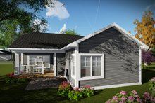 Architectural House Design - Ranch Exterior - Rear Elevation Plan #70-1483