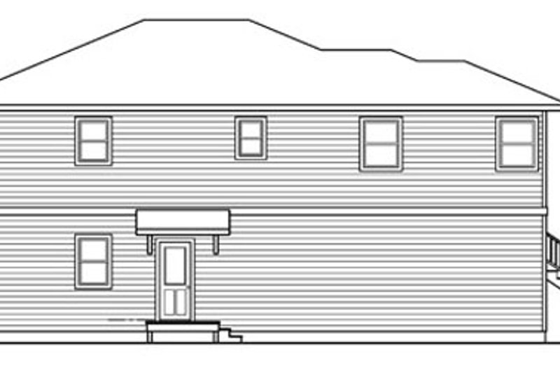 Exterior - Other Elevation Plan #124-757 - Houseplans.com