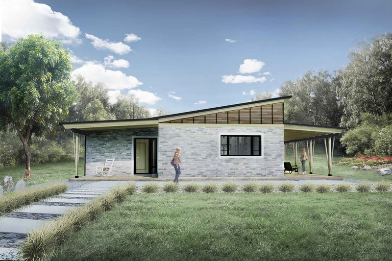 Home Plan - Modern Exterior - Front Elevation Plan #924-3