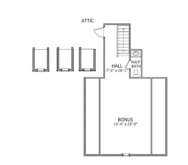 Traditional Floor Plan - Upper Floor Plan Plan #898-9