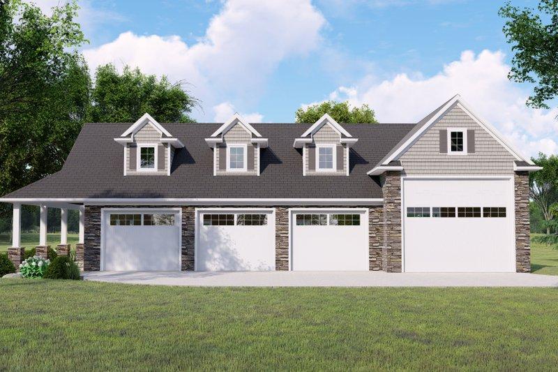 Dream House Plan - Craftsman Exterior - Front Elevation Plan #1064-146