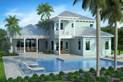 Cottage Style House Plan - 5 Beds 4 Baths 4127 Sq/Ft Plan #938-89 Exterior - Rear Elevation