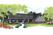 Ranch Style House Plan - 3 Beds 2 Baths 1418 Sq/Ft Plan #45-109 Exterior - Front Elevation
