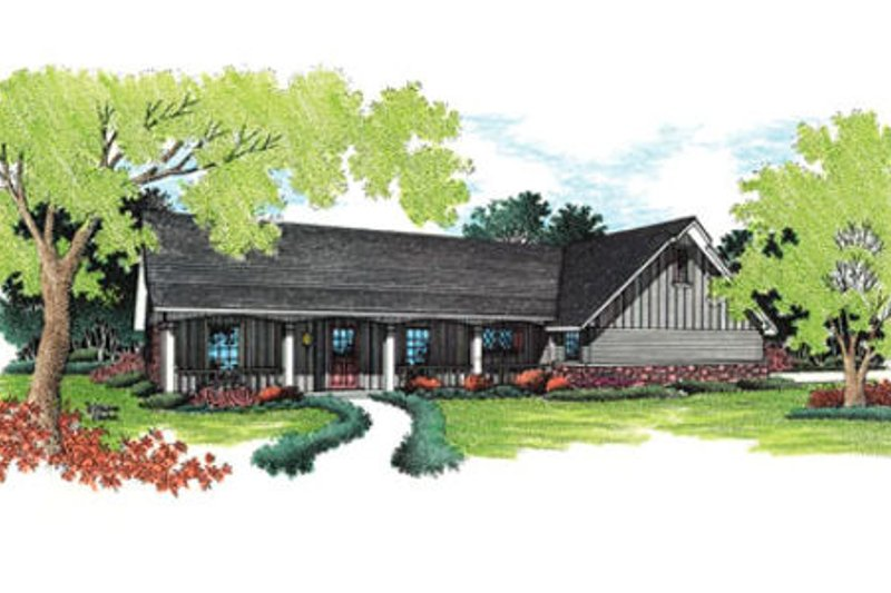 Ranch Exterior - Front Elevation Plan #45-109