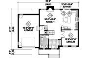 Traditional Style House Plan - 3 Beds 1 Baths 2103 Sq/Ft Plan #25-4676 Floor Plan - Main Floor Plan