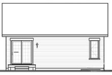 Home Plan - Traditional Exterior - Rear Elevation Plan #23-2197