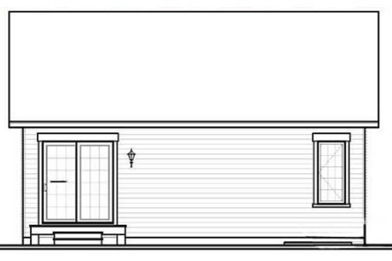 Traditional Exterior - Rear Elevation Plan #23-2197 - Houseplans.com