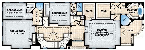 Colonial Floor Plan - Upper Floor Plan Plan #27-447