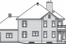 House Plan Design - Traditional Exterior - Rear Elevation Plan #23-872