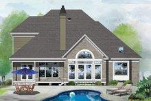 House Plan Design - Colonial Exterior - Rear Elevation Plan #929-158