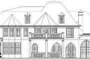 European Style House Plan - 4 Beds 3 Baths 4138 Sq/Ft Plan #119-220 Exterior - Rear Elevation