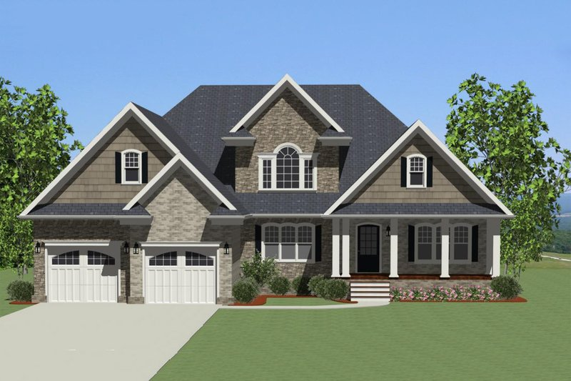 Front view - 2700 square foot Craftsman home