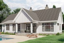 Dream House Plan - Farmhouse Exterior - Rear Elevation Plan #51-1171