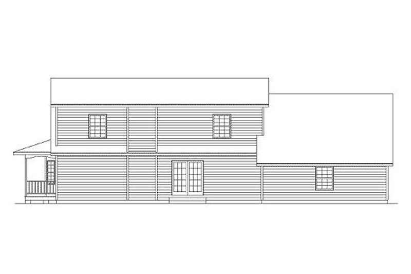 Country Exterior - Rear Elevation Plan #57-228 - Houseplans.com