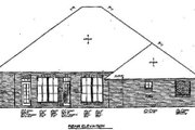 Traditional Style House Plan - 3 Beds 2.5 Baths 2056 Sq/Ft Plan #310-311 Exterior - Rear Elevation
