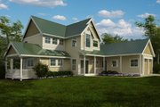 Farmhouse Style House Plan - 3 Beds 3.5 Baths 2604 Sq/Ft Plan #118-121 Exterior - Front Elevation