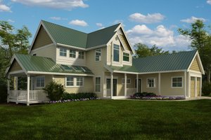 Farmhouse Exterior - Front Elevation Plan #118-121