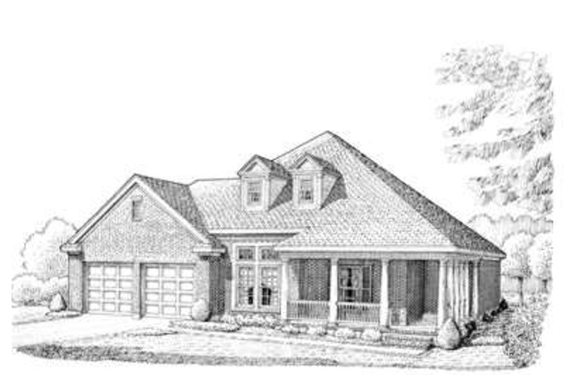 Southern Exterior - Front Elevation Plan #410-334