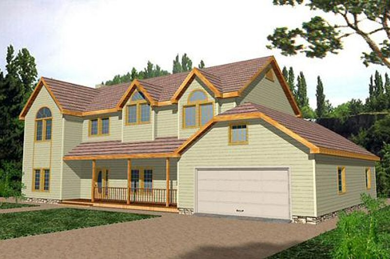 Traditional Exterior - Front Elevation Plan #117-139 - Houseplans.com