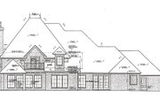 European Style House Plan - 4 Beds 3.5 Baths 4214 Sq/Ft Plan #310-974 Exterior - Rear Elevation
