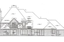 European Exterior - Rear Elevation Plan #310-974