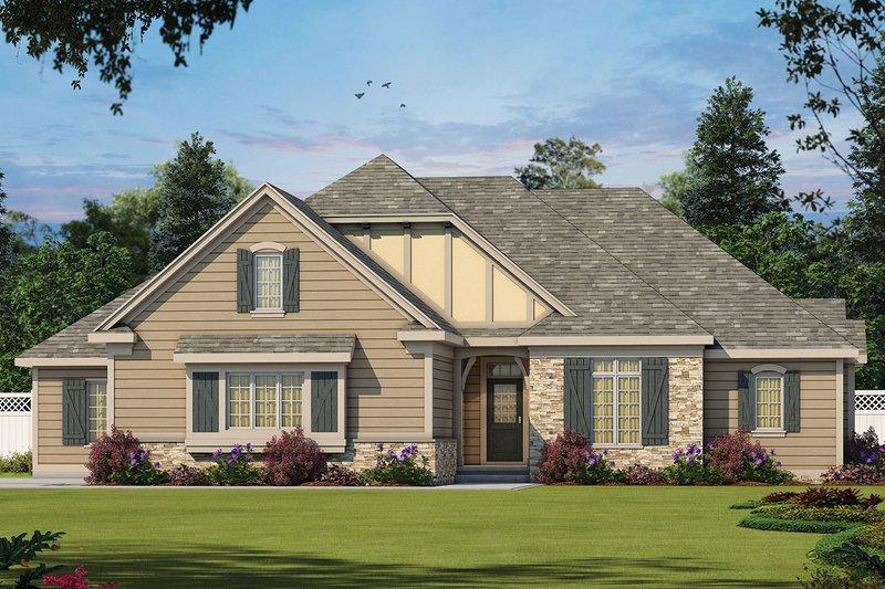 Architectural House Design - European Exterior - Front Elevation Plan #20-2264