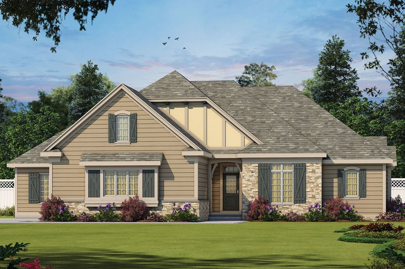 European Style House Plan - 3 Beds 3.5 Baths 2709 Sq/Ft Plan #20-2264