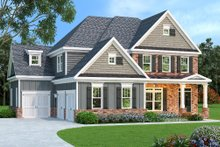 Dream House Plan - European Exterior - Front Elevation Plan #419-191