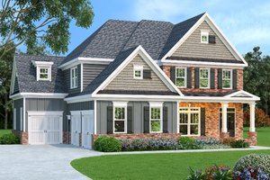Dream House Plan - European Exterior - Front Elevation Plan #419-191