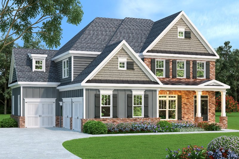 House Plan Design - European Exterior - Front Elevation Plan #419-191