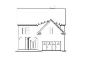 Architectural House Design - Craftsman Exterior - Rear Elevation Plan #419-241