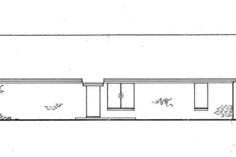 Exterior - Rear Elevation Plan #45-220 - Houseplans.com