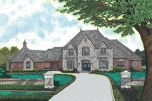 Dream House Plan - European Exterior - Front Elevation Plan #310-354