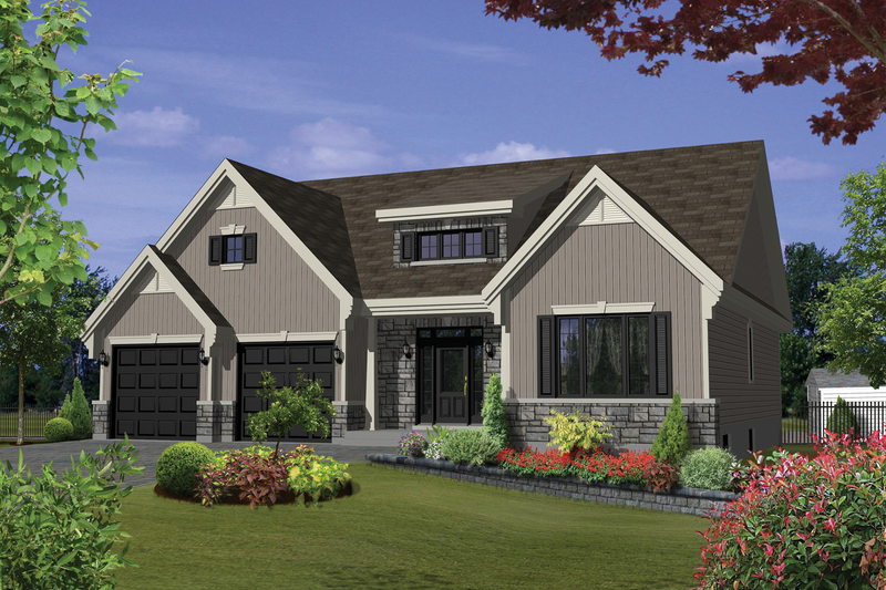 Traditional Style House Plan - 2 Beds 1 Baths 1608 Sq/Ft Plan #25-4539 Exterior - Front Elevation