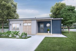 Modern Exterior - Front Elevation Plan #924-10