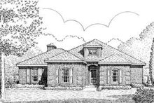 Dream House Plan - European Exterior - Front Elevation Plan #410-387