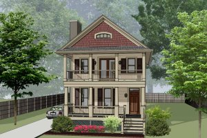 Home Plan - Bungalow Exterior - Front Elevation Plan #79-213