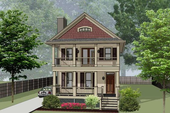 Bungalow Exterior - Front Elevation Plan #79-213