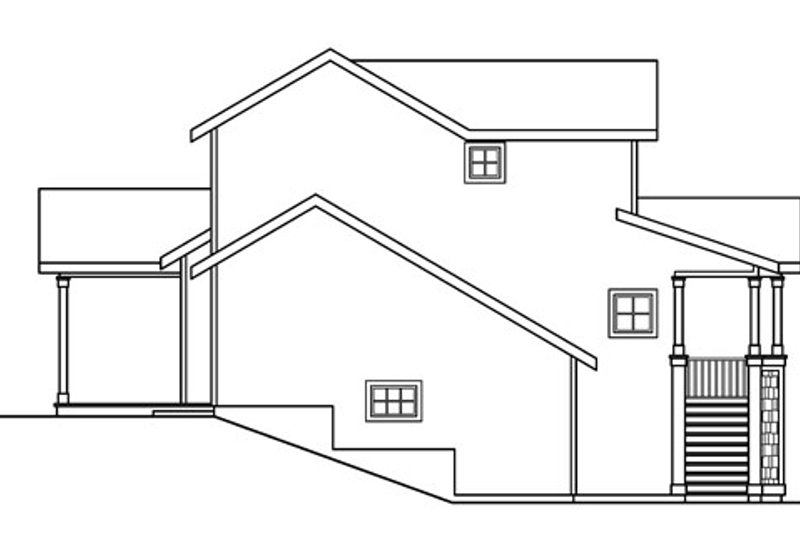 Traditional Exterior - Other Elevation Plan #124-717 - Houseplans.com