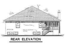 European Exterior - Rear Elevation Plan #18-146