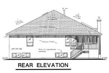 Home Plan - European Exterior - Rear Elevation Plan #18-146