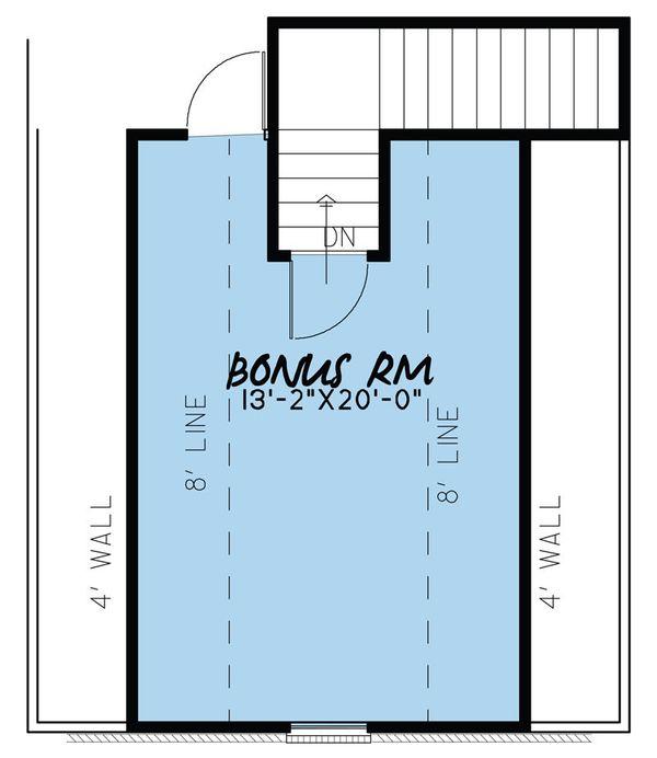 European Floor Plan - Upper Floor Plan Plan #923-38